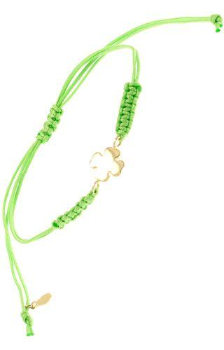 Klepsoo  Colors Four-Leaf Clover - Yellow Gold Bracelet 168073
