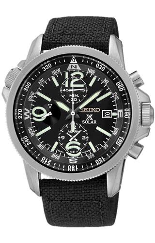 Seiko 1/5 sec. Alarm Chronograph Pilot SSC293P2