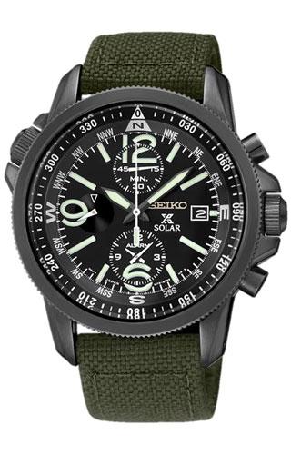 Seiko 1/5 sec. Alarm Chronograph Pilot SSC295P1