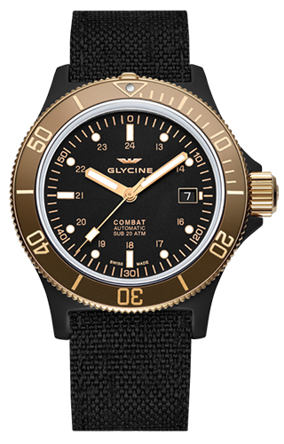 Glycine Combat SUB Automatic Specials Golden Eye GL0093