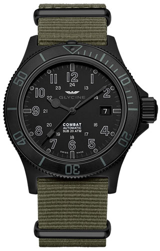 Glycine Combat SUB Automatic Specials Stealth GL0084