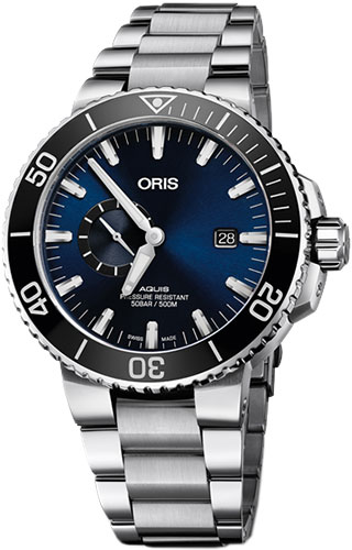 Oris  Diving Aquis Small Second, Date 74377334135-0782405PEB