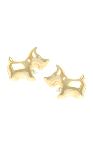 Klepsoo Dogs - Yellow Gold Earrings 089374