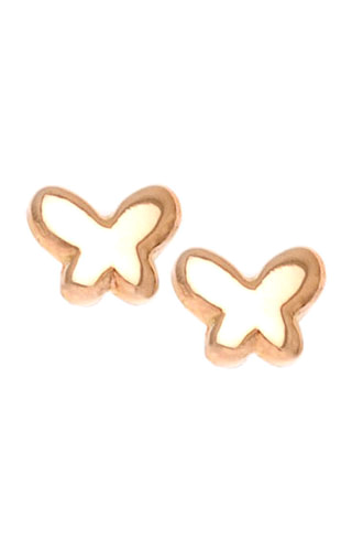 Klepsoo Butterflies - Yellow Gold Earrings 131254