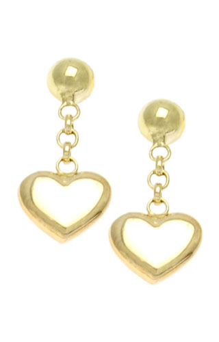Klepsoo Hearts - Yellow Gold Earrings 131238