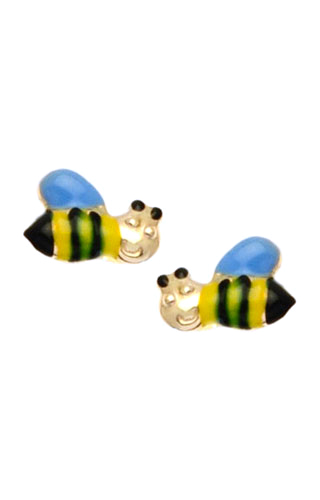 Klepsoo Bees - Yellow Gold Earrings 099303