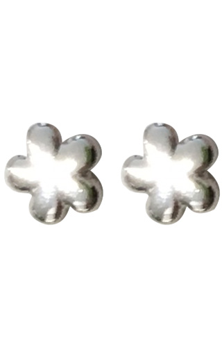 Klepsoo  Special Present Flowers - White Gold Earrings 131268