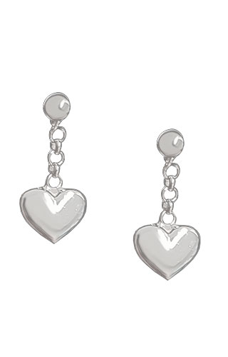 Klepsoo Hearts - White Gold Earrings 131258