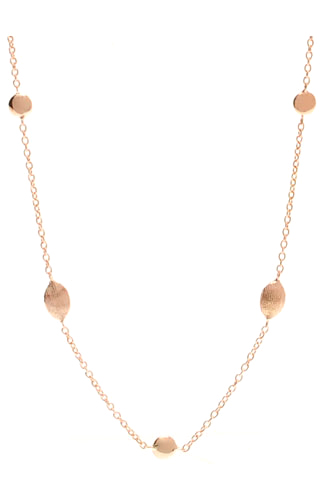 Klepsoo Ellipse - Rose Gold Necklace 189643