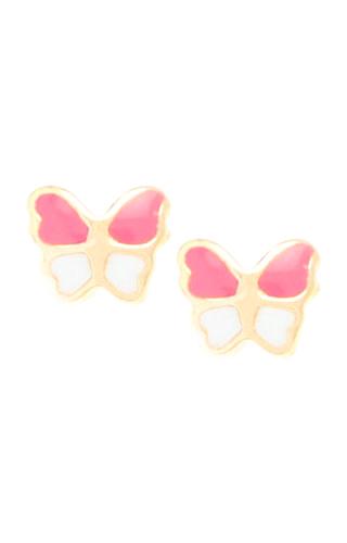 Klepsoo Butterflies - Yellow Gold Earrings 138311-F