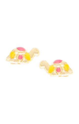 Klepsoo Turtles - Yellow Gold Earrings 092657-G
