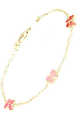 Klepsoo Butterflies - Yellow Gold Bracelet 138316-RRF
