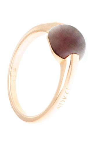 Klepsoo Dark Red - Rose Gold Ring 178144