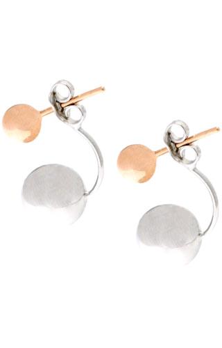 Klepsoo Beads - Rose White Gold Earrings 189187