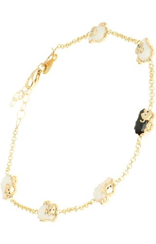 Klepsoo Sheep - Yellow Gold Bracelet 145584-SHEEP