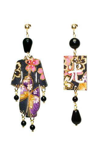 Lebole Gioielli Kimono Seta KS/P/NERO