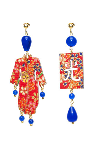 Lebole Gioielli Kimono Seta KS/P/BLU