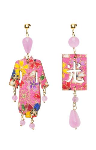 Lebole Gioielli Kimono Seta e Argento KS/P/ROSA.FLUO