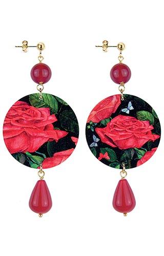 Lebole Gioielli Fiore Rosso D/OR.35/RUBINO
