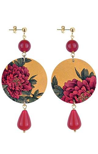 Lebole Gioielli Fiore Rosso D/OR.39/RUBINO