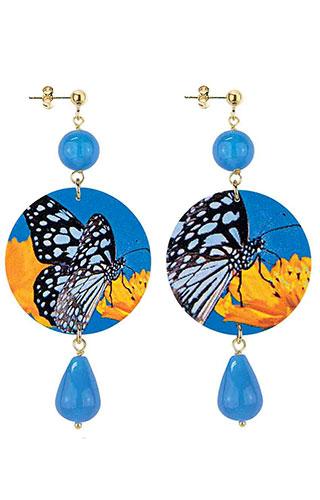 Lebole Gioielli Farfalla Azzurro D/OR.68/AZZURRO
