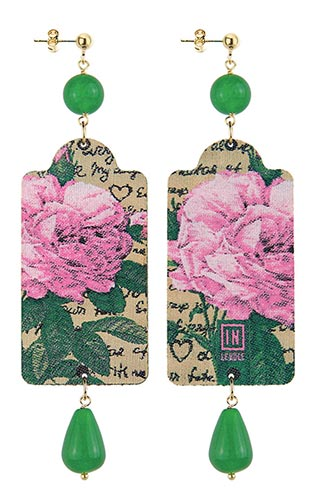 Lebole Gioielli Fiore rosa verde TT/G/OR.15/VERDE