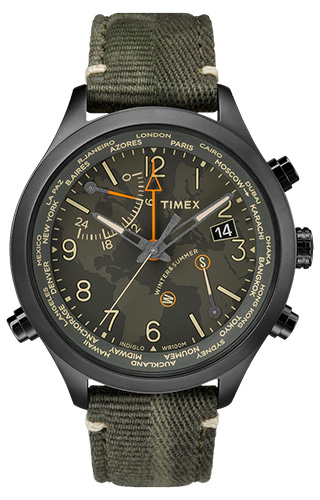 Timex Waterbury World Time Powered By Intelligent Quartz® Technology - TW2R43200