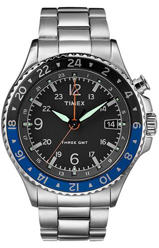 Timex Three GMT powered by Intelligent Quartz® TW2R43500