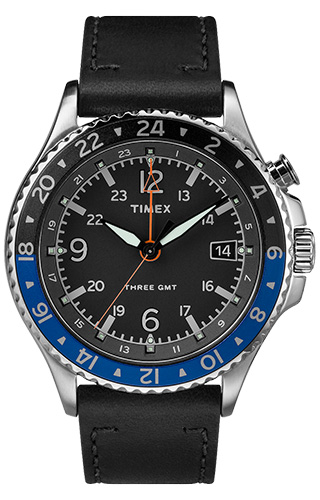 Timex Three GMT powered by Intelligent Quartz® TW2R43600